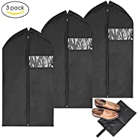 3-Pk. MaidMAX Garment Bags with A Shoe Bag