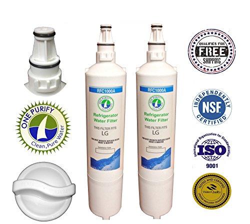 2 Pack - Onepurify Water Filter To Replace Lg, Lg Premium, Kenmore, Kenmoreclear!, Sears, Amana, 5231Ja2005A-S, 5231Ja2006, 5231Ja2006A, 5231Ja2006A-S, 5231Ja2006B, 5231Ja2006B-S, 5231Ja2006E, 5231Ja2006F, 5231Ja2006F-S, 5231Ja2006H, 5231Jj2001C, Wf300, W front-45479
