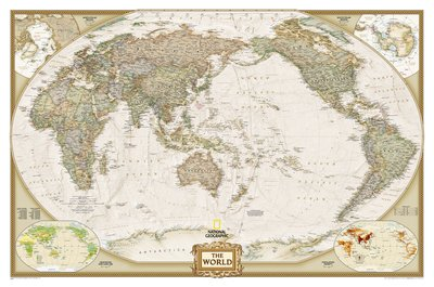 Carte Du Monde National Geographic.Affiche Geante National Geographic Carte Du Monde