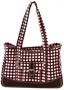 Gorgeous & Durable Zippered Top Kalencom Weekender Tote Diaper Bag With Mesh Storage Pockets - Pink Baby / Child / Infant / Kid