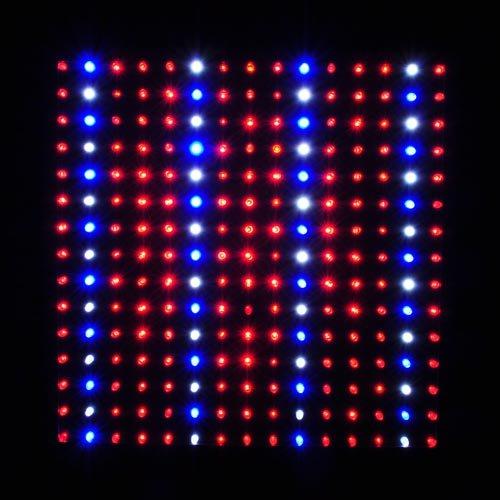 LED Wholesalers 2501QUAD Blue/Red/Orange/White 225 LED 13.8 Watt Square Grow Light Panel 110 Volt