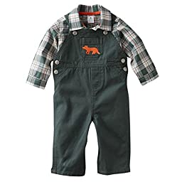 Carter\'s Baby Boys 2-piece Overall Set (3 Months, Green)