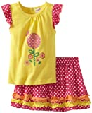 Carters Watch the Wear Girls 2-6X Flower and Frills Tunic with Skirt Set