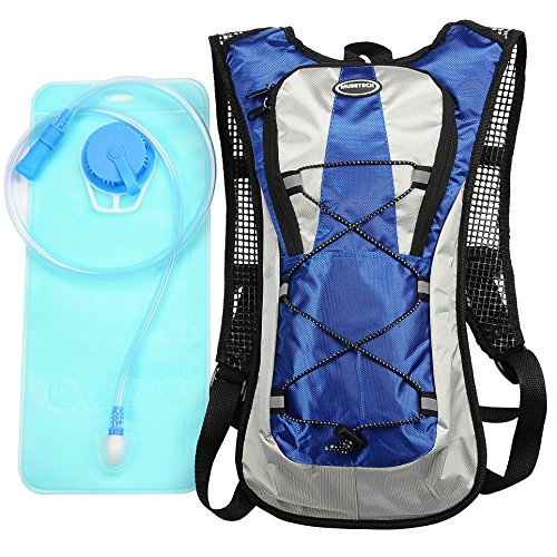 Hydration Pack with 2L Backpack Water Bladder for Hiking Running Biking Color Blue (Water Pack compare prices)