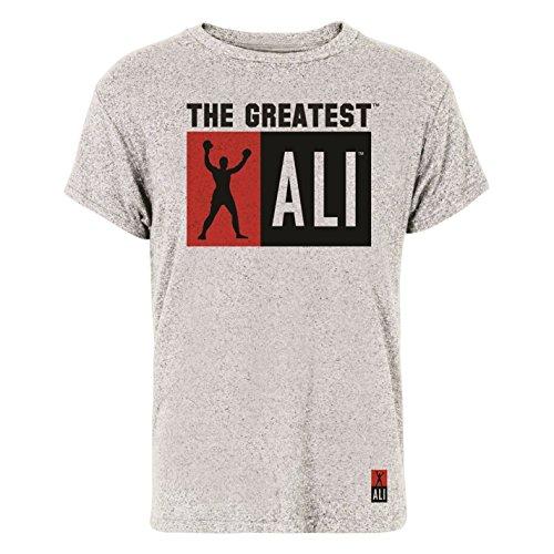 Muhammad Ali The Greatest T-shirt da uomo grigio top maglietta, Grey, XXL