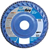 "Norton BlueFire R884P Type 27 Flat Flap Abrasive Disc, 7/8"" Arbor, Zirconia Alumina Plus, 4-1/2"" Diameter, 60 Grit (Pack of 2)"
