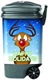 Garbage Pantz GP-RUDY Happy Holidays Rudolph Trash Can Cover