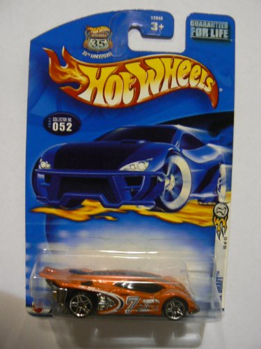 2002 - Mattel - Hot Wheels - First Editions 40 of 42 - Side Draft (Dark Metallic Orange) Collector #052 - Race & Win Card - Out of Production - New - Limited Edition - Collectible