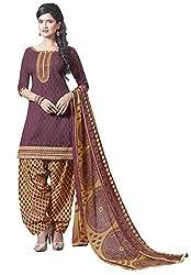 Vivel's Wine colour Straight Unstiched Bhagalpuri Dress material