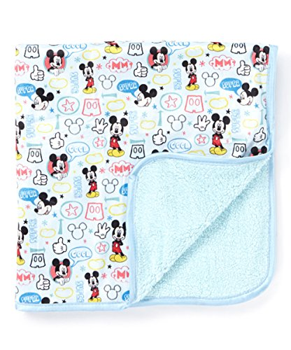 Disney Mickey Sherpa Mink Printed Blanket, Blue