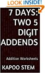 7 Addition Worksheets with Two 5-Digi...