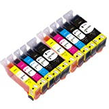 2 X Set of 5 Canon Compatible ink cartridges for Pixma IP4950 printer