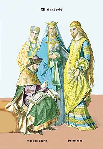 Buyenlarge 0-587-03529-3-G1827 'German Cleric & Princesses, 13th Century' Giclee Fine Art Print, 18