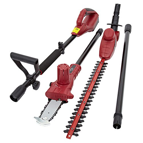 51mLeFMHSQL - BEST BUY #1 Trueshopping® 3 In 1 Chainsaw Hedge Trimmer Extension Pole Garden Multi Tool 18V Lithium-Ion Battery Cordless Electric Powered Lightweight Quiet