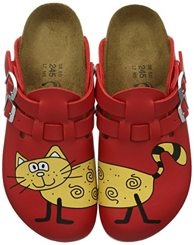 Birkenstock Professional - Zoccoli Kay, Donna, Rosso (Rot (Cat Red Background)), 37