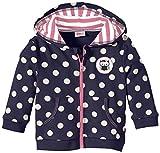 Eltern by Salt & Pepper Baby - Mädchen (0-24 Monate) Sweatshirt E Jacket Clever Owl Punkte, Gepunktet, Gr. 62, Blau (Navy 451)