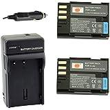 DSTE® アクセサリーキット Pentax D-LI90 D-L90P 互換 カメラ バッテリー 2個+充電器キット対応機種 K-01 K-3 K-5 K-5II K-5IIs K-7 645D 645Z