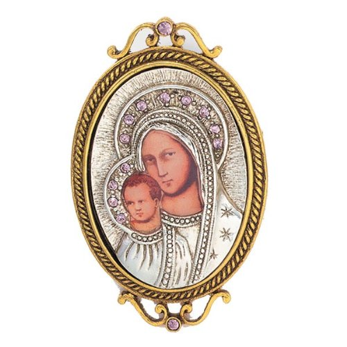 The Vatican Library Collection Iconica Mary and Child Brooch