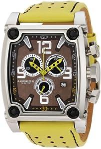 Akribos+XXIV Akribos XXIV Men's AK415YL Conqueror Swiss Quartz Yellow Chronograph Watch