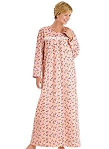 Printed Flannel Gown - Misses Sizes
