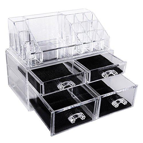 songmics acryl kosmetik aufbewahrung organizer 4 schubladen jka005. Black Bedroom Furniture Sets. Home Design Ideas