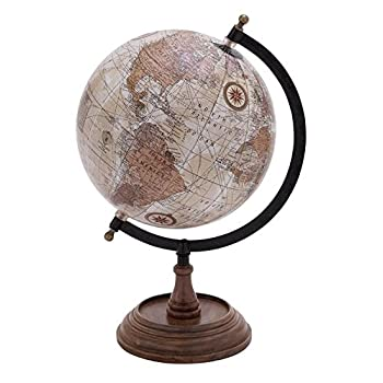 Deco 79 Globe with Metal and Wooden Details
