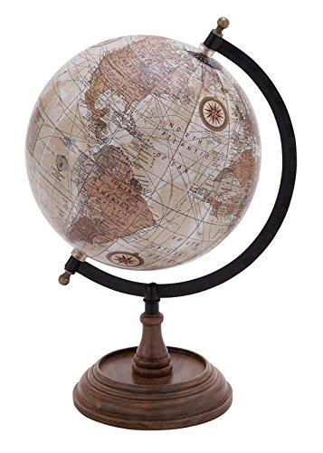 Deco 79 Globe with Metal and Wooden Details 0