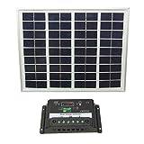 ソーラー パネル チャージ コントローラー 18V 5W 単品 セット 各種 充電 太陽光 発電 (パネル&コントローラー セット)