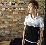 japanisuCalvin オリジナル ブランド メンズ レディース ファッション ポロシャツ t シャツ カジュアル 系  simple ストライプ ボーダー 柄 タイト デザイン ペアルック でも 着こなし できる 収縮性 抜群 素材 採用