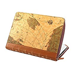 Gmyle Book Case Vintage for 13 inch Macbook Pro with Retina Display - World Map Pattern