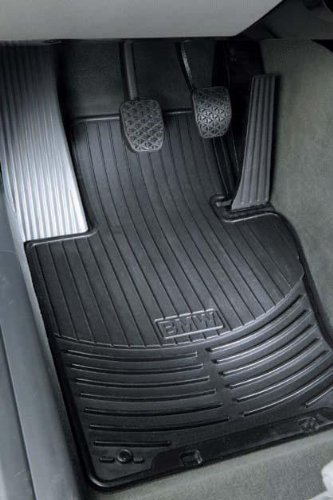 BMW E60 5 Series Genuine Factory OEM All Season Rear Floor Mats Black 2004 - 2010 (set of 2 rear mats) xwsn custom car floor mats for mitsubishi all models asx lancer sport ex zinger fortis outlander grandi car floor mat car carpet