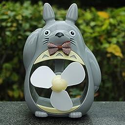 Totoro Fan Desktop Decoration Desk Ornaments Portable Mini Cartoon Small Fan Large Wind Office (4)