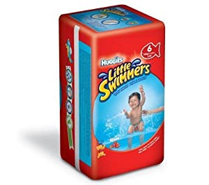 Huggies Little Swimmers Disposable Swim Nappies - Size 6, 2 x Packs of 10 (20 Nappies)