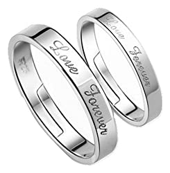 19 Likes Silver Metal Couple Ring For Women & Men