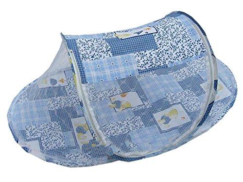 Niceeshop(Tm) Instant Pop Up Mosquito Net Crib,Baby Tent,Beach Play Tent,Bed Playpen-Blue front-30142