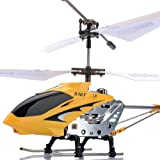 New Genuine Syma S107G 3CH Mini Metal Radio RC Helicopter LED Gyro Indoor Yellow
