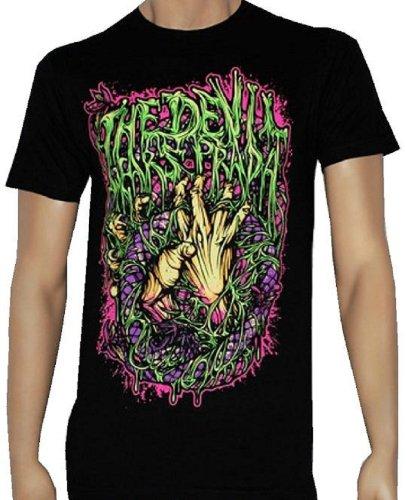 The Devil Wears Prada - Hands And Snake - Black T-Shirt - Size Large