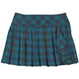 Amy Byer Faux Wrap Plaid Pleat Skirt