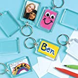 Keyring Kits to Decorate Personalise & Use or Offer as a Small Gift. Children's Craft Activities (Pack of 8)