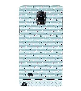 American Stars Pattern Cute Fashion 3D Hard Polycarbonate Designer Back Case Cover for Samsung Galaxy Note Edge :: Samsung Galaxy Note Edge N915FY N915A N915T N915K/N915L/N915S N915G N915D