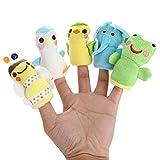ISUAD Bébé marionnettes à doigt, Mignon en Peluche des Animaux Marionnettes à Doigt Set (Animaux marionnette à doigt (10 pièces))