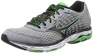 Mizuno Wave Inspire 11, Men's Running Shoes, Grey (Alloy/Black/Classic Green), 8.5 UK (42 1/2 EU)