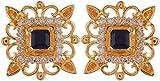 Violet & Purple Gold Plated Stud Earrings For Women (1000031071)