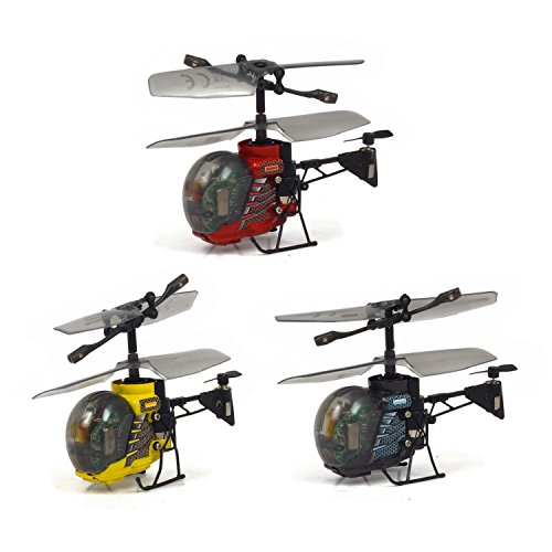 Silverlit Mini elicottero, radiocomandato da 3 canali a infrarossi con luci a led, colori assortiti
