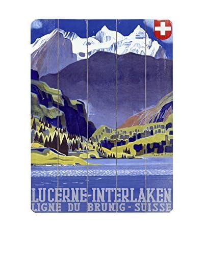 Artehouse Swiss Alps Lucerne Wood Wall Décor