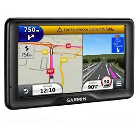 Garmin dezl 760LMT - GPS Poids Lourds écran 7 pouces - Appel mains libres et commande vocale - Info Trafic et carte (45 pays) gratuits à vie