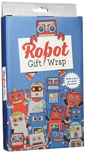 Luckies Robot Gift Wrap (Robot Wrapping Paper compare prices)