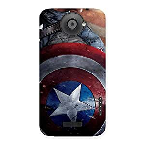 Impressive Rounded Sheild Back Case Cover for HTC One X