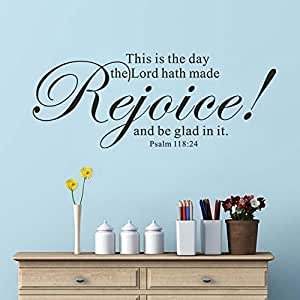 lord hath made Rejoice and be glad in it (Black,s): Furniture & Decor
