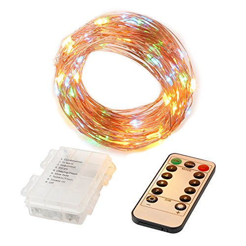 FoYoung Color Changing LED String Lights 33ft 100LEDs Remote - Import It All